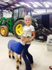 Ashley with one of her lambs!
