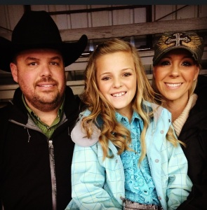 Proud mom and dad with Ashley at the Kendall County Fair