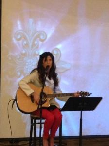 Carole leading worship