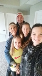 Family selfie the day we prayed together